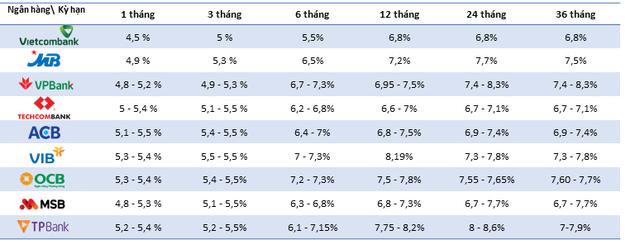Lãi suất huy động của 9 ngân hàng áp dụng Basel II hiện nay ra sao? - Ảnh 1.