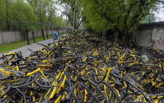 Câu chuyện buồn của Ofo, từ một startup trị giá 2 tỷ USD bây giờ chẳng còn lại gì ngoài những đống xe đạp hỏng chất cao như núi - Ảnh 1.