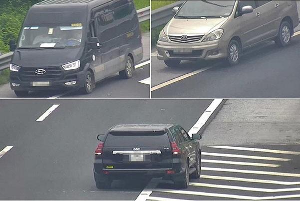 3 ô tô chạy lùi trên cao tốc Hà Nội - Hải Phòng trong 1 buổi sáng - Ảnh 2.