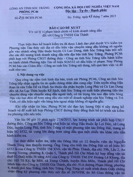 """Lật lại """"phi vụ"""" mua bán 2 triệu lít xăng có liên quan đến đại gia Trịnh Sướng  - Ảnh 2."""