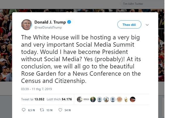 Hội nghị thượng đỉnh về mạng xã hội của Tổng thống Donald Trump đưa Facebook, Twitter vào tầm ngắm - Ảnh 2.