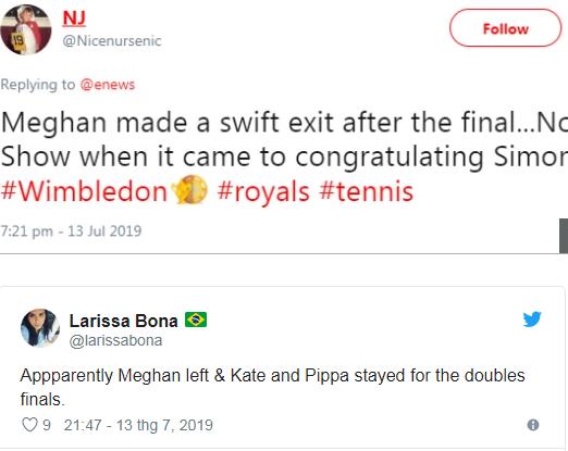 Thực hư chuyện Meghan Markle tự ý bỏ về, để mặc chị dâu Kate một mình khi cả hai cùng xem trận đấu quần vợt đang gây xôn xao dư luận - Ảnh 3.