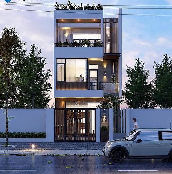 Mẫu nhà 1 trệt 2 lầu xây hướng nào cũng đẹp miễn chê