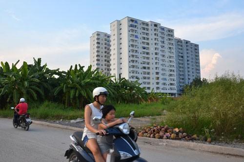 Một dự án chung cư giá thấp tại TP HCM Ảnh: TẤN THẠNH