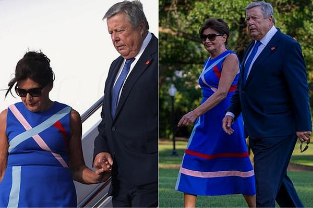 Tổng thống Trump nắm tay vợ đầy tình cảm sau kì nghỉ hè nhưng cậu út Barron lại chiếm spotlight với ngoại hình khác lạ - Ảnh 10.