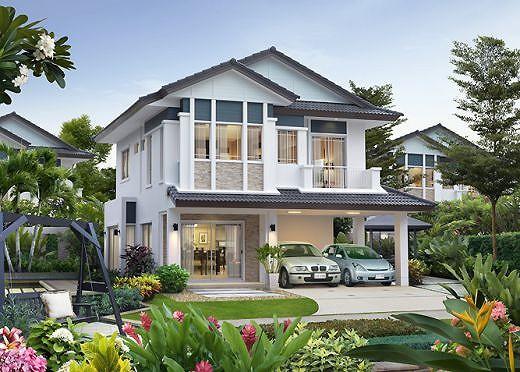 Những mẫu nhà 2 tầng mái thái kiểu mới đẹp ngẩn ngơ - Ảnh 4.