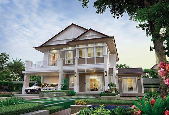 Những mẫu nhà 2 tầng mái thái kiểu mới đẹp ngẩn ngơ - Ảnh 6.