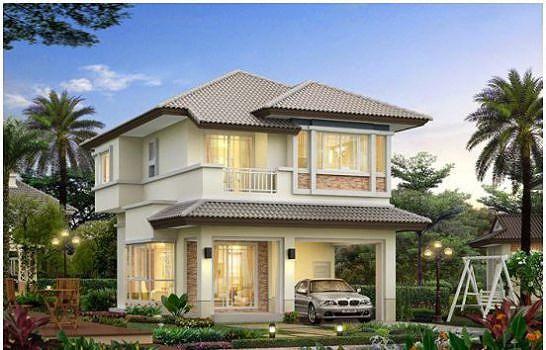 Những mẫu nhà 2 tầng mái thái kiểu mới đẹp ngẩn ngơ - Ảnh 7.