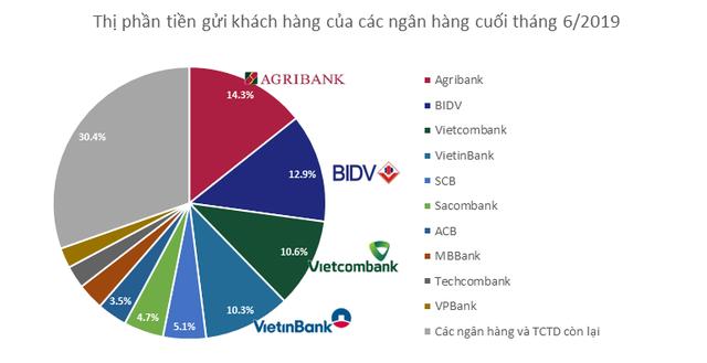 Thị phần tiền gửi của các ngân hàng hiện nay như thế nào?  - Ảnh 1.