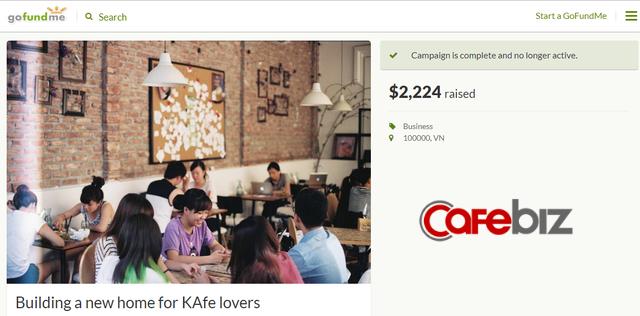 Chỉ sau 2 tháng ra mắt, Đào Chi Anh đã lặng lẽ dừng dự án gọi vốn cộng đồng 200.000 USD để gây dựng lại The new KAfe - Ảnh 1.