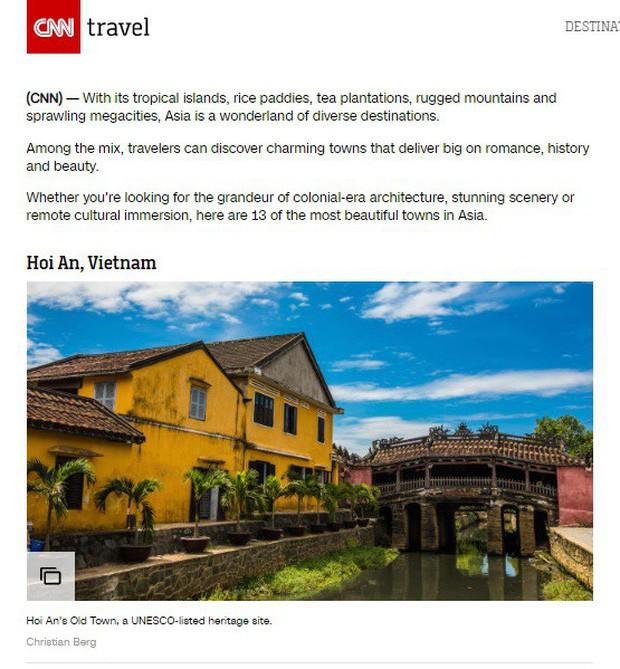 HOT: Hội An lại được CNN vinh danh khi đứng đầu trong top 14 thành phố đẹp nhất châu Á - Ảnh 4.