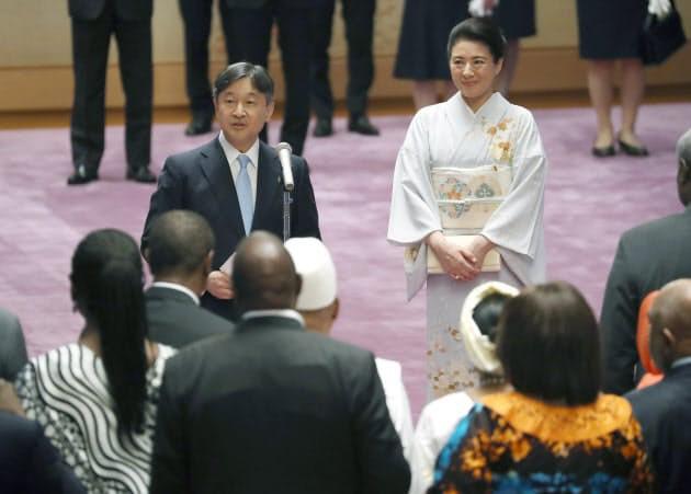 Hoàng hậu Masako tỏa sáng tại tiệc chiêu đãi với thần thái hơn người, vẻ đẹp xuất chúng trong bộ kimono truyền thống, trổ tài ngoại giao bên chồng - Ảnh 6.