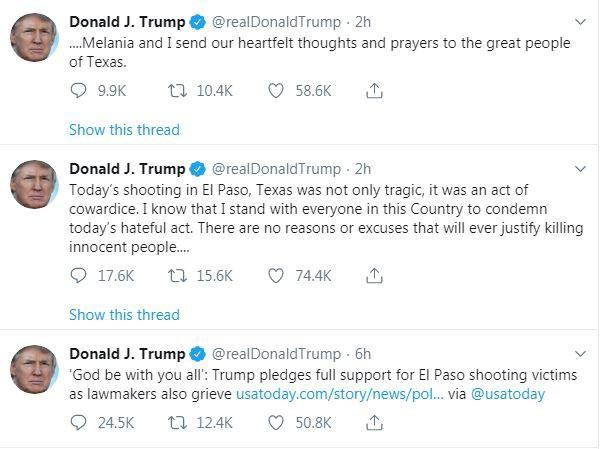 Tổng thống Trump: Xả súng ở Texas là hành động hèn nhát - Ảnh 1.
