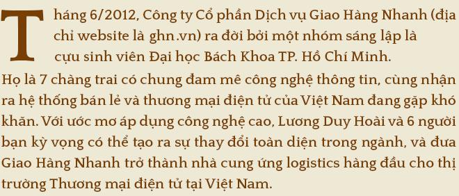 Đồng sáng lập Giao Hàng Nhanh- Lương Duy Hoài: Nếu Giao Hàng Nhanh không nhanh chúng tôi không thể là Tay đua dẫn đầu - Ảnh 1.