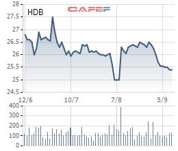 Giá cổ phiếu liên tục xuống thấp, HDBank muốn mua lại tối đa 5% vốn làm cổ phiếu quỹ  - Ảnh 1.