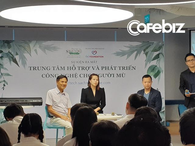 Lê Hoàng Uyên Vy ra mắt trung tâm hỗ trợ và phát triển công nghệ cho người mù - Ảnh 2.