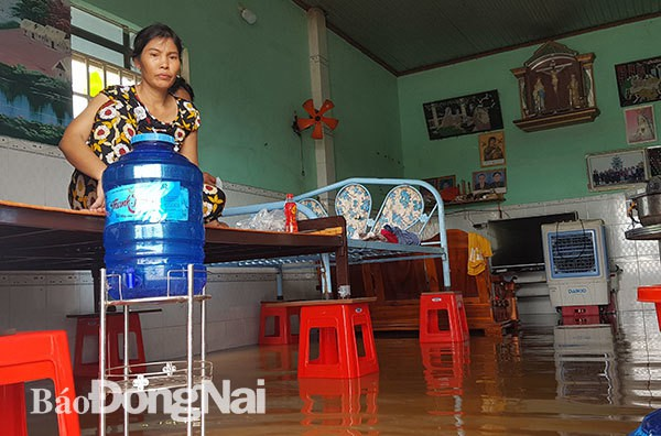 Đồng Nai mưa lớn ngập hàng trăm ngôi nhà, 1 người chết do lũ cuốn - Ảnh 6.