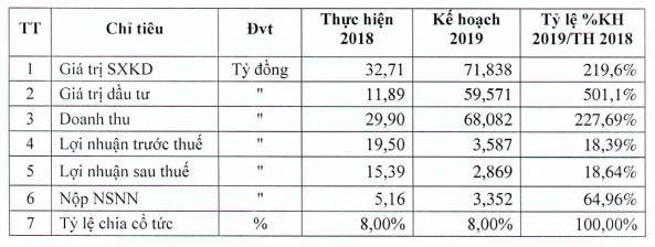 Phát triển nhà HUD2 (HD2) đặt kế hoạch lợi nhuận năm 2019 giảm 81% cùng kỳ - Ảnh 1.