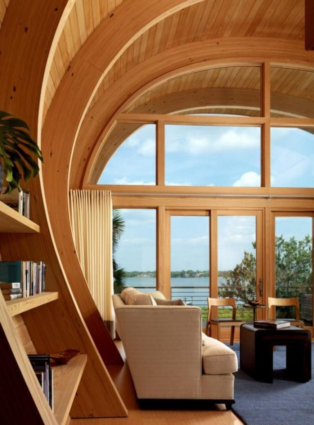 Ngôi nhà lơ lửng giữa rừng cây có view nhìn ra hồ tuyệt đẹp - Ảnh 5.