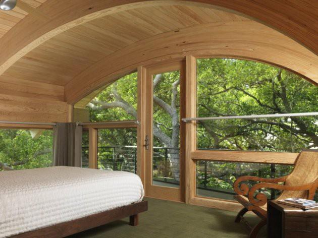 Ngôi nhà lơ lửng giữa rừng cây có view nhìn ra hồ tuyệt đẹp - Ảnh 6.