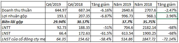 Không còn lợi nhuận từ bán vốn, Gemadept báo lãi năm 2019 sụt giảm sâu so với cùng kỳ - Ảnh 1.