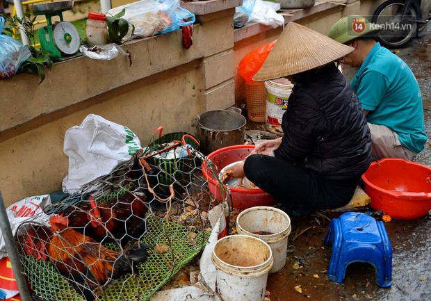 Dịch vụ bán và làm thuê gà cúng giao thừa ế ẩm, nhiều tiểu thương dọn hàng về sớm - Ảnh 1.
