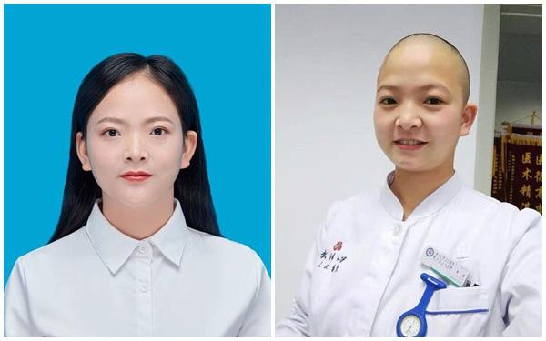 Hình ảnh nữ y tá xinh đẹp ở tâm dịch Vũ Hán cắt trụi mái tóc đi làm nhiệm vụ gây sốc cộng đồng mạng và ý nghĩa đằng sau đó - Ảnh 1.