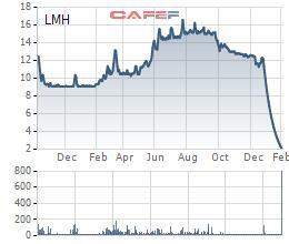 Landmark Holding (LMH) báo lỗ quý 4, cổ phiếu rơi một mạch từ 12.000 xuống 2.000 đồng - Ảnh 1.