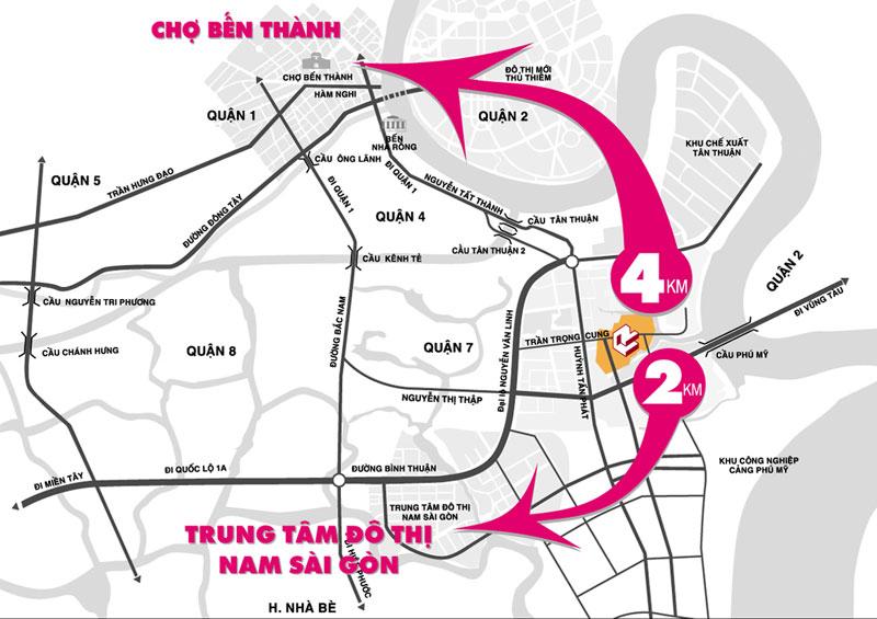 f58vitri Tổng quan và quy mô khu đô thị Nam Long   Tân Thuận Đông