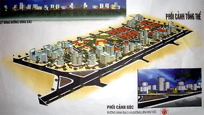 phoi canh Tổng quan và quy mô khu đô thị Tây Nam Kim Giang