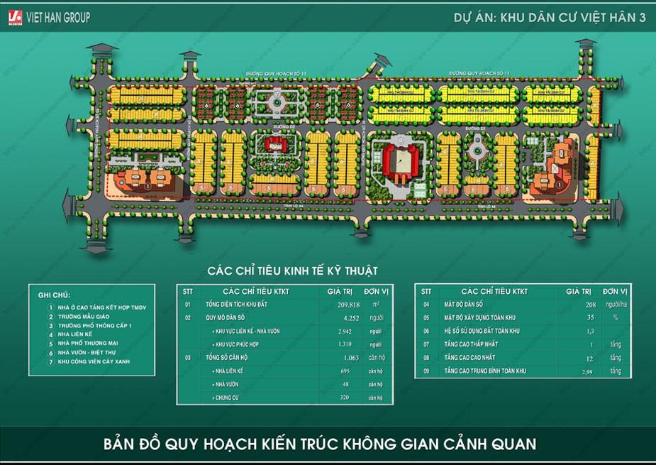 kdc3004 Tổng quan và quy mô khu dân cư Việt Hân 3