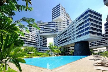 The Interlace có tới 8 sân vườn đan xen giữa các tòa nhà.