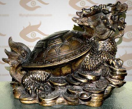 Linh vật này biểu tượng quyền lực tuyệt đỉnh giữa rùa và lân.