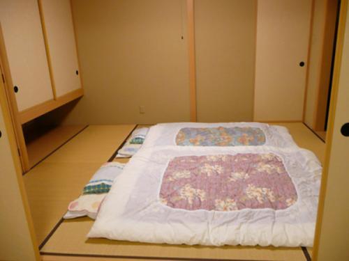 Với những phòng ngủ truyền thống thì người Nhật thường trải đệm và ngủ trực tiếp lên sàn gỗ. Khi không ngủ họ lại có thể cất chăn đệm gọn gàng và có một khoảng không sinh hoạt rộng rãi. Đây là cách để người Nhật nới rộng tối đa không gian phòng ngủ của họ và khi cần có thể dùng để tiếp khách.