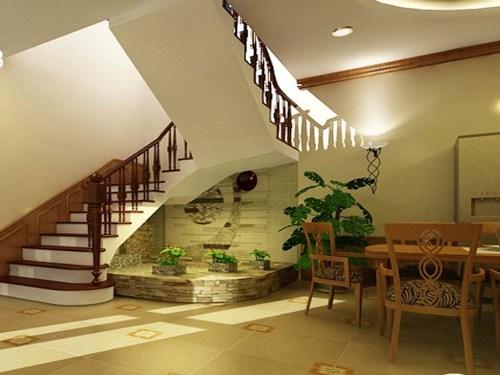 Chỉ một góc nhỏ dưới gầm cầu thang bạn cũng có biến nó thàng nơi vô cùng lãng mạn như thế này