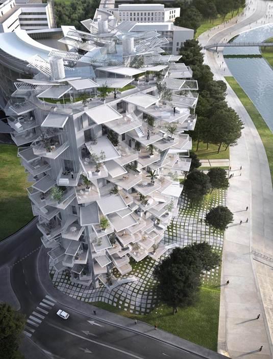 Tháp dân cư độc đáo 17 tầng sẽ bao gồm 120 căn hộ với lối kiến trúc vô cùng độc đáo.