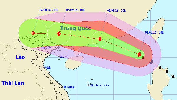 Bão số 2 đang giật cấp 14-15 ngoài biển Đông và dự báo còn tiếp tục mạnh thêm