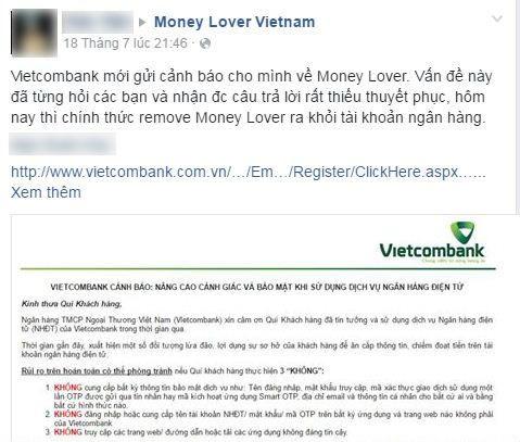 Người dùng lo lắng và gỡ bỏ ứng dụng Money Lover