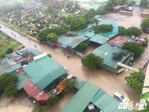 Khu Nhân Mỹ - Mỹ Đình bị ngập lụt.