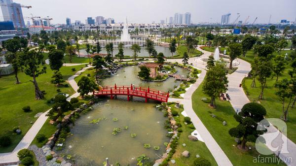 Công viên có tổng diện tích 14ha, tổng vốn đầu tư 500 tỷ đồng.