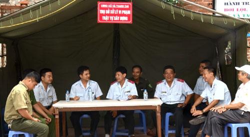Các lực lượng chức năng huyện Thanh Trì ứng trực 24/24 giờ nhằm ngăn chặn vi phạm trật tự xây dựng tại khu đô thị Đại Thanh