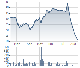 Cổ phiếu TTF đã trải qua 19 phiên giảm sàn liên tục