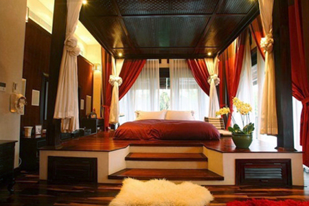 Phòng ngủ với không gian mở mang lại cảm giác thoải mái cho gia chủ sau mỗi ngày làm việc mệt mỏi