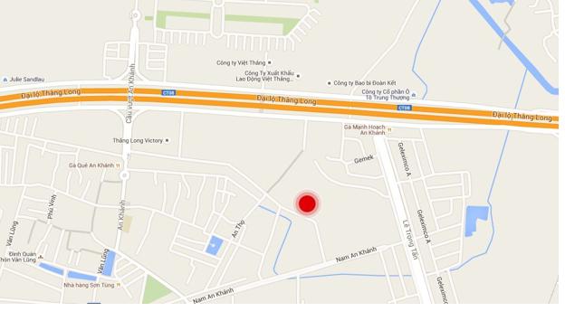 Dự án tọa lạc tại khu đất HH6 thuộc khu đô thị Nam An Khánh, Hoài Đức.