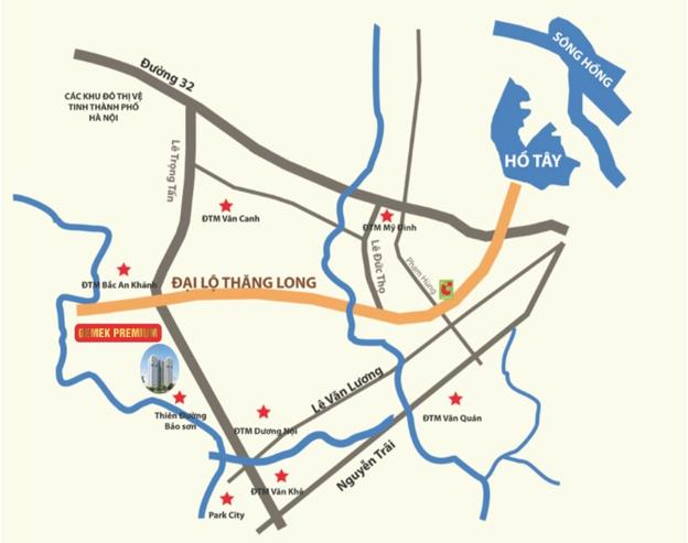 Dự án Gemek Premium nằm trong khu đô thị mới Bắc An Khánh.