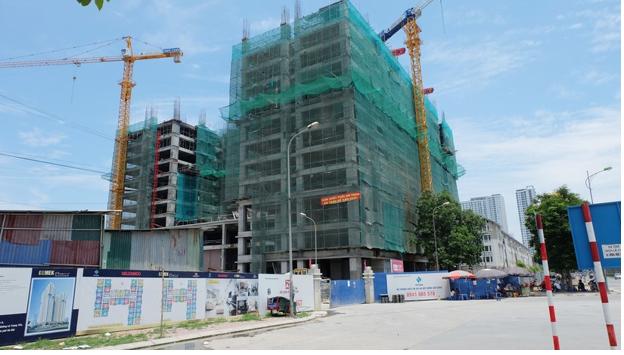 Dự án đang xây dựng phần thô đến tầng 12.