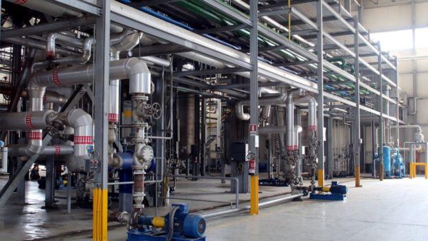 Bên trong nhà máy của Công ty hóa sinh GF tại Caserta, Italia