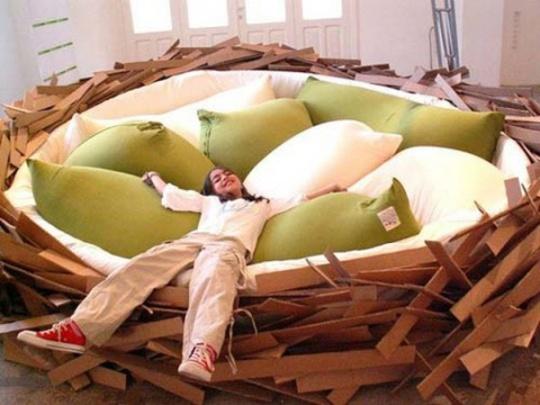 Con yêu của bạn sẽ thấy cực kỳ vui thích và hứng khởi với chiếc giường tạo hình tổ chim siêu độc đáo này.