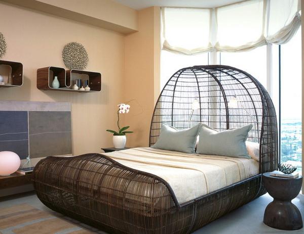 Mẫu giường ngủ làm bằng mây tre đan này vừa thân thiện với môi trường lại mang lại cho bạn giấc ngủ ngon.
