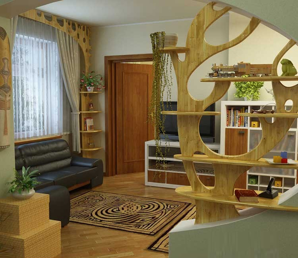 Với vách ngăn gỗ họa tiết như thế này sẽ tạo cảm giác mềm mại, là điểm nhấn làm đẹp cho ngôi nhà bạn.